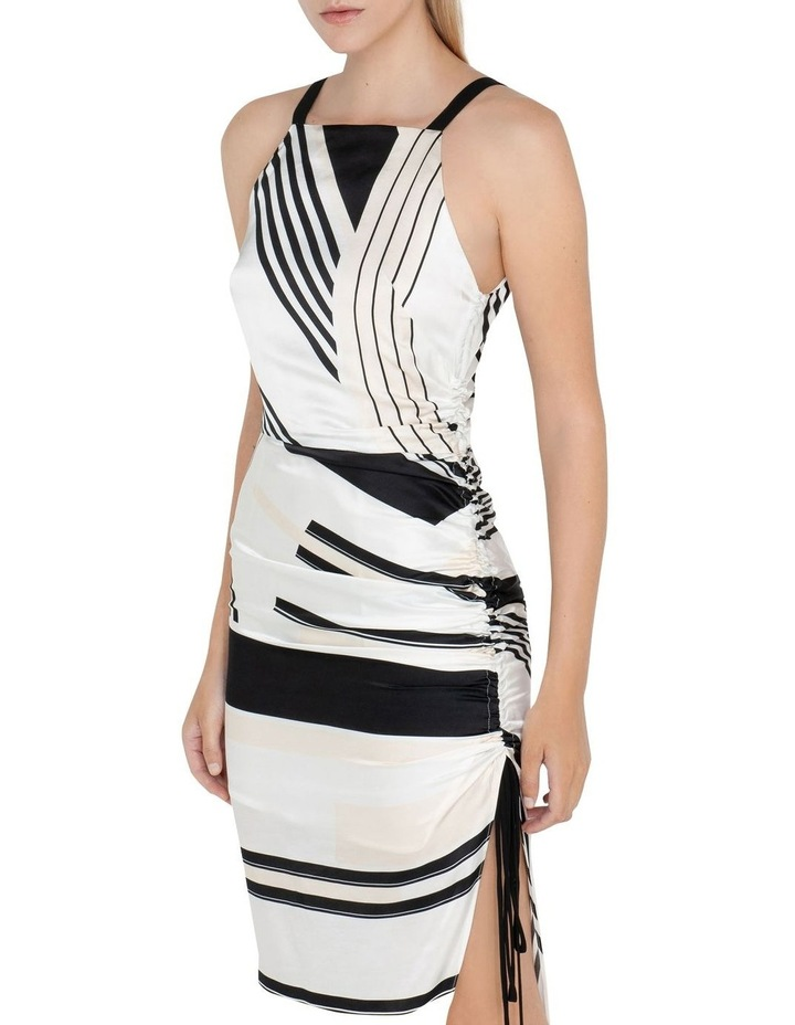 Graphic Stripe Ruched Dress image 2