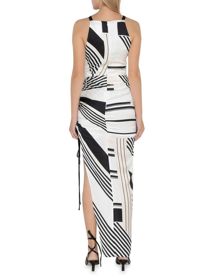 Graphic Stripe Ruched Dress image 3