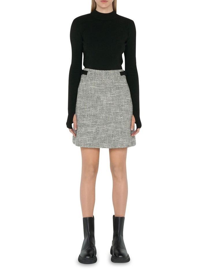 Tweed A-Line Mini Skirt image 1