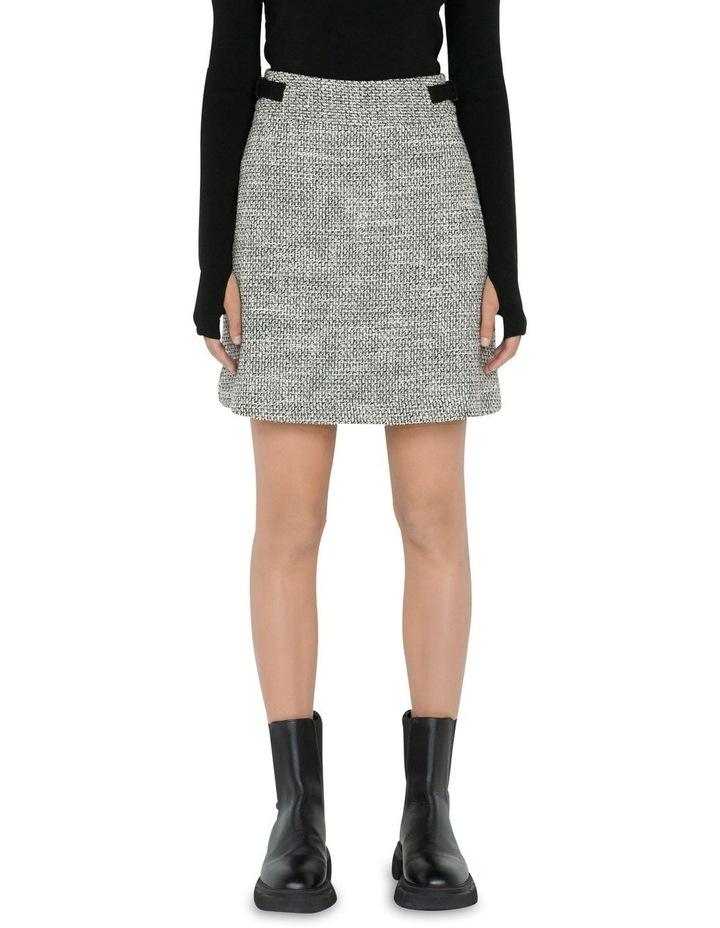 Tweed A-Line Mini Skirt image 2