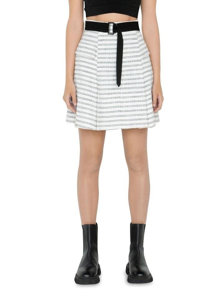 Stripe Tweed Belted Mini Skirt image 2