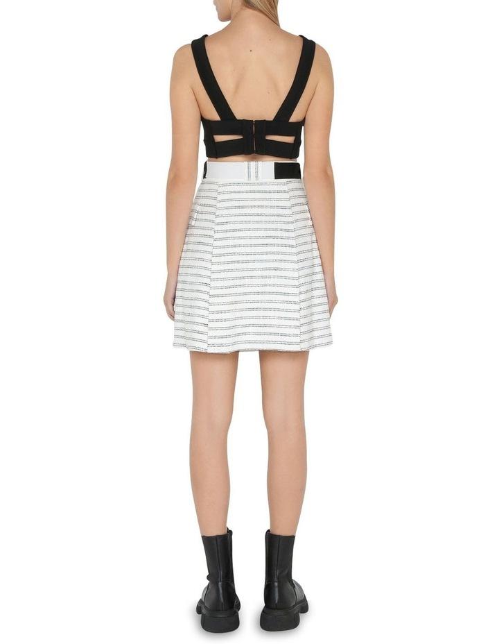 Stripe Tweed Belted Mini Skirt image 3