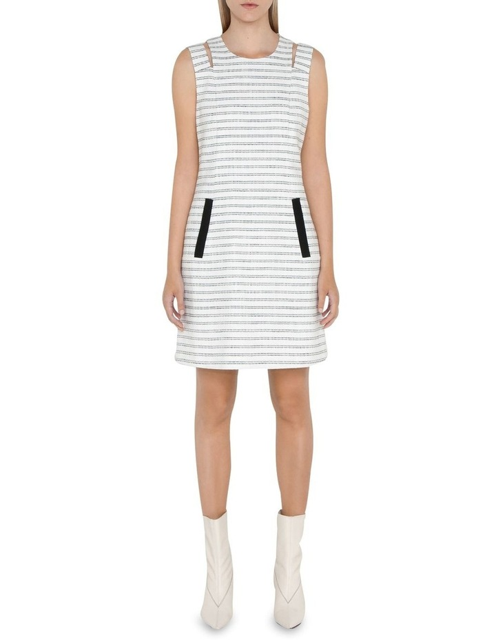 Stripe Tweed Shift Dress image 1