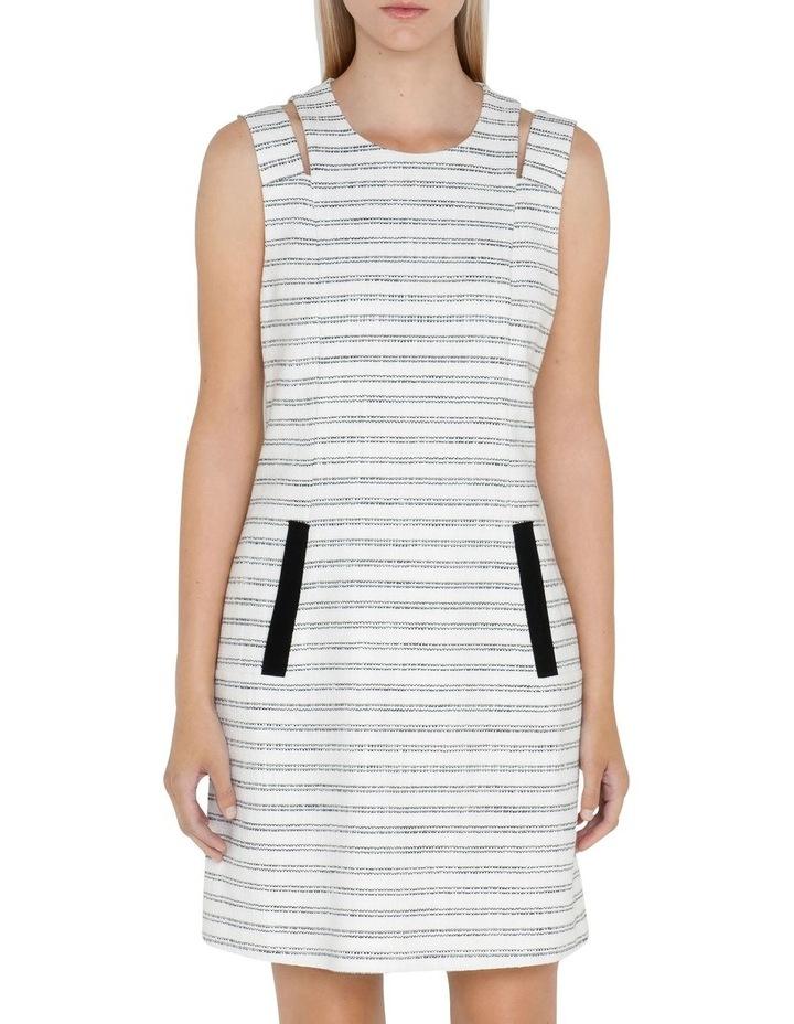 Stripe Tweed Shift Dress image 2