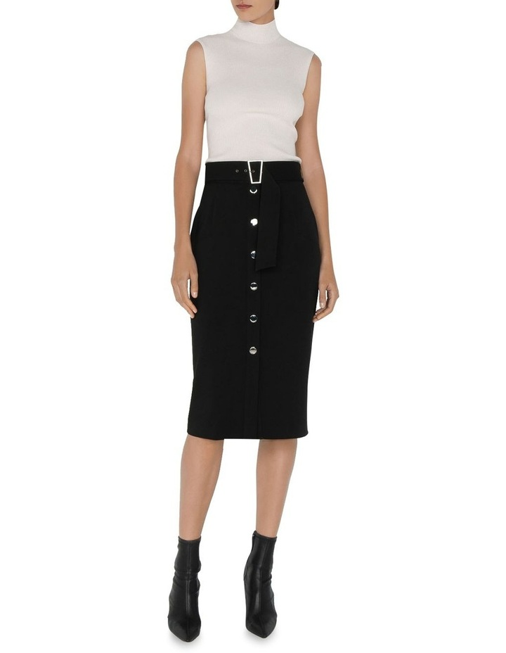 Twill Snap Front Skirt image 1