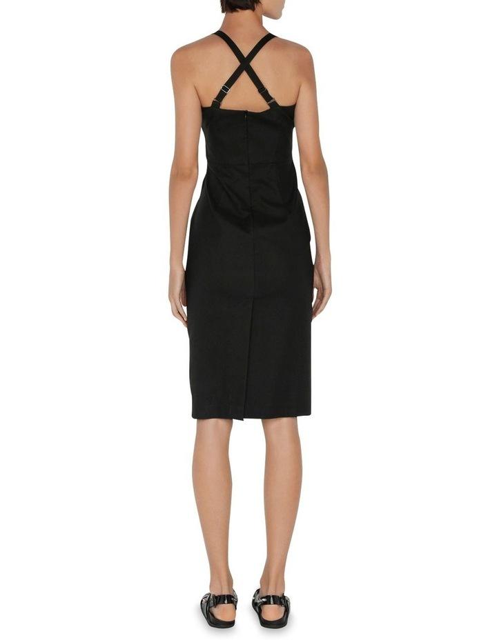 Asymmetric Cross Back Dress image 3
