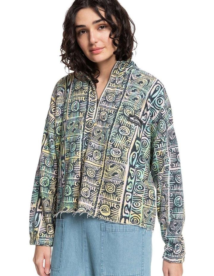 Womens Flying Over Organic Half Zip Sweatshirt image 1