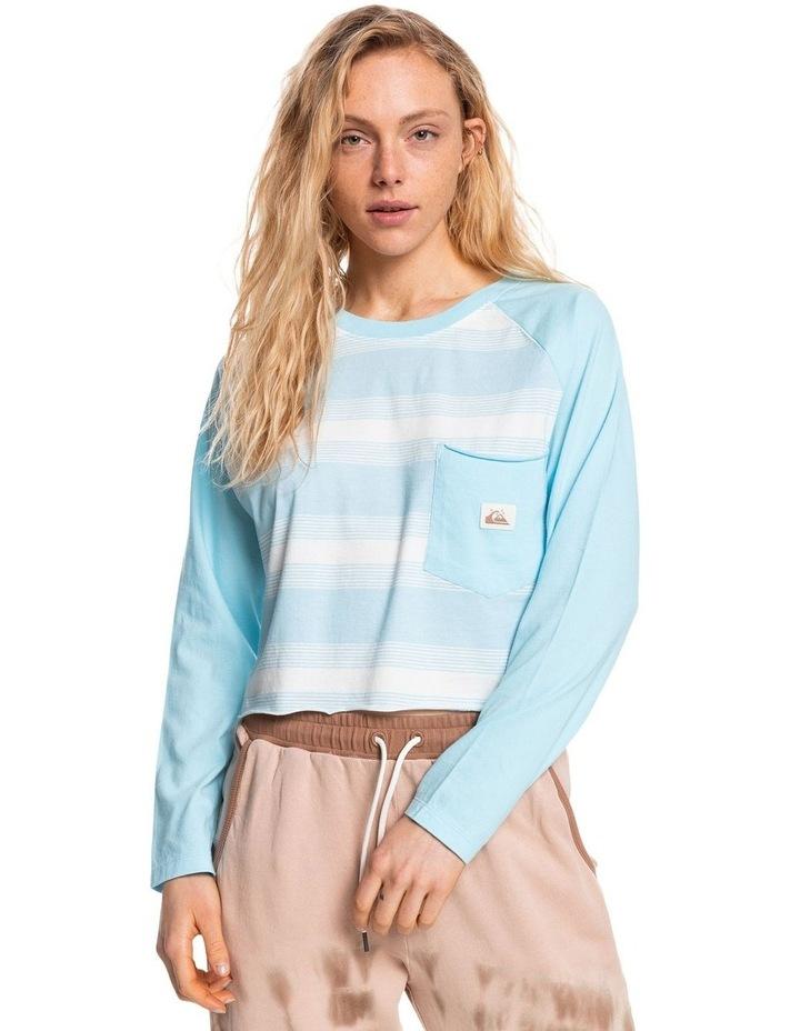 Womens Iconic Horizon Cropped Long Sleeve T-Shirt image 1