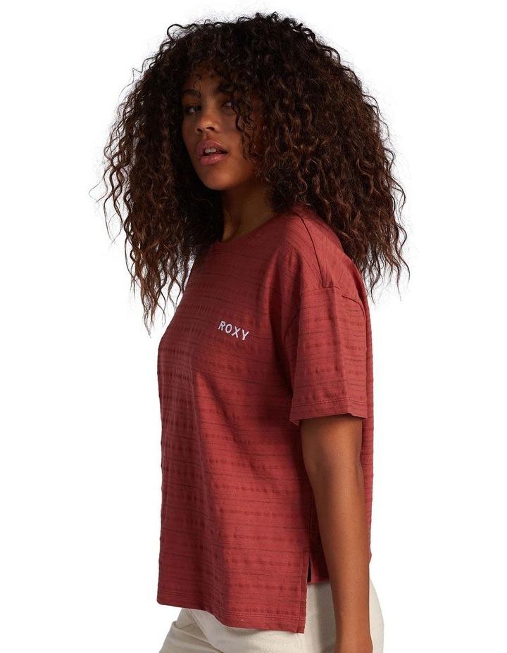 Womens Beachy Stripe Drop Shoulder T-Shirt image 1