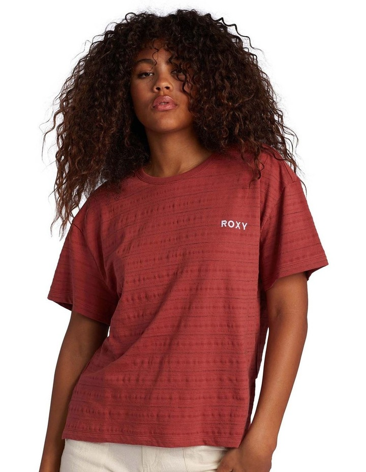 Womens Beachy Stripe Drop Shoulder T-Shirt image 2