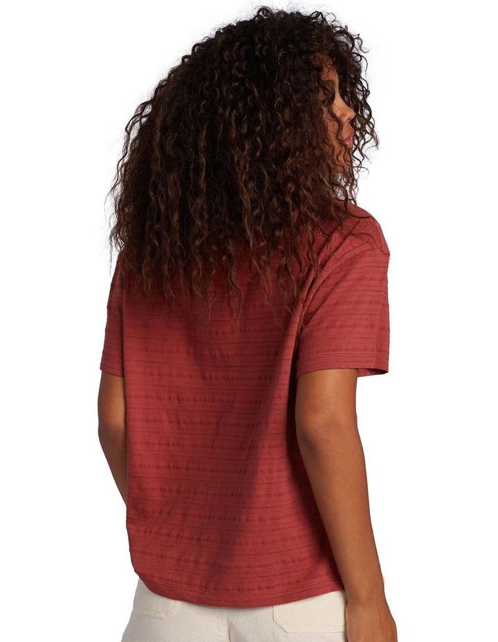 Womens Beachy Stripe Drop Shoulder T-Shirt image 3