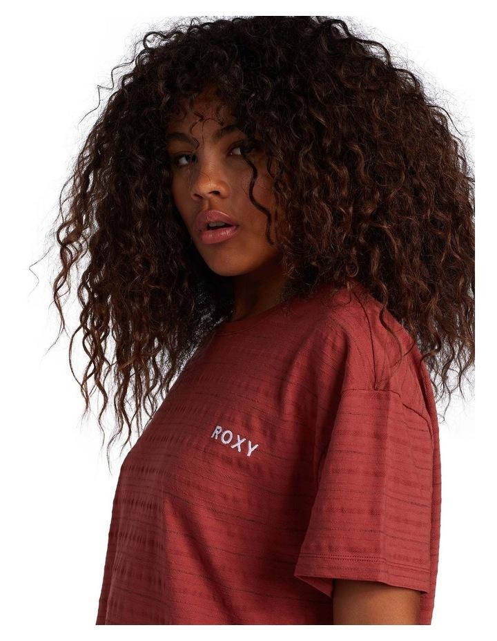 Womens Beachy Stripe Drop Shoulder T-Shirt image 4