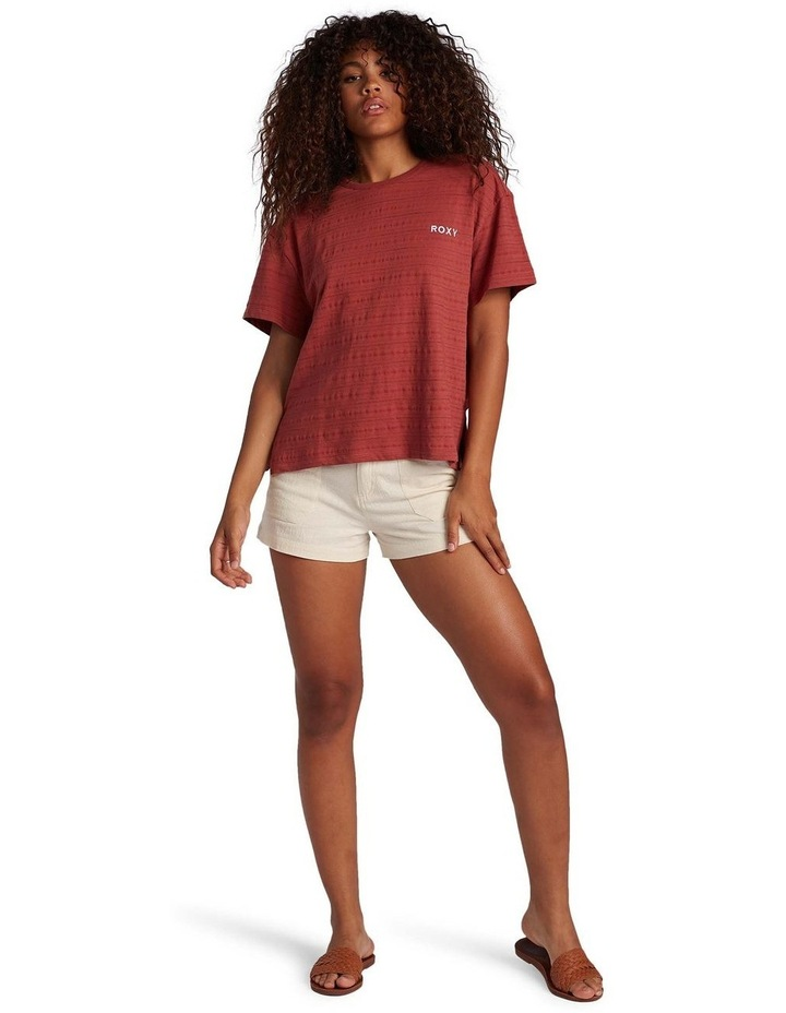 Womens Beachy Stripe Drop Shoulder T-Shirt image 5