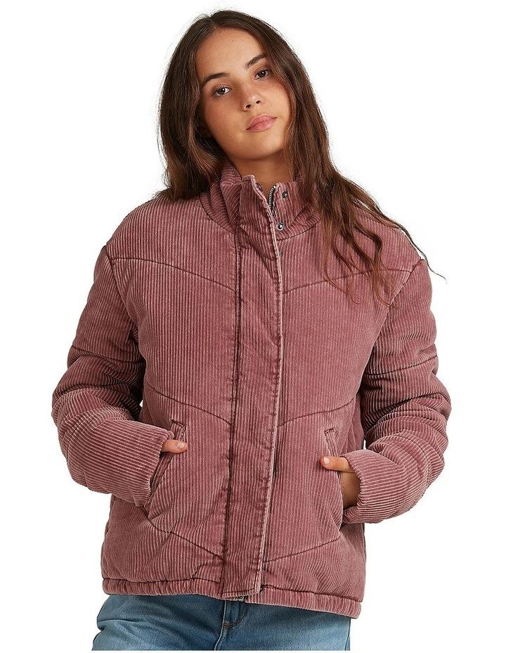 Womens Cross The Line Corduroy Puffer Jacket image 1