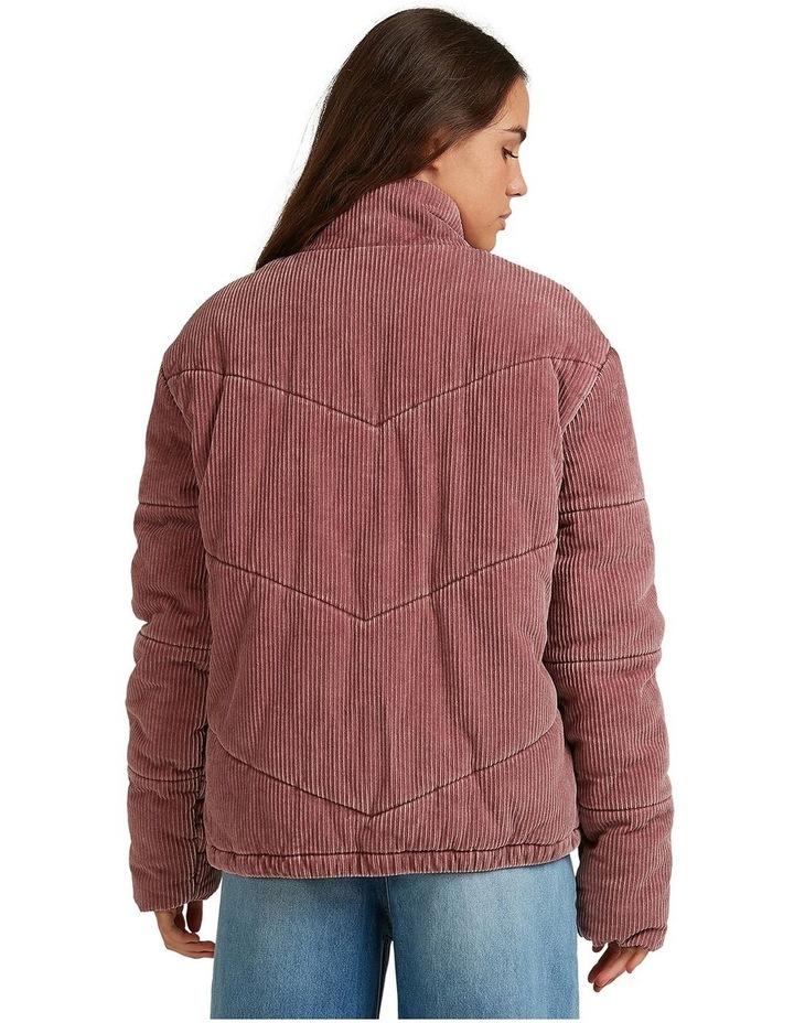 Womens Cross The Line Corduroy Puffer Jacket image 3