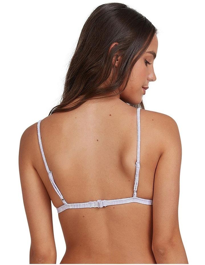 Womens Lilies Surf Fixed Tri Bikini Top image 4