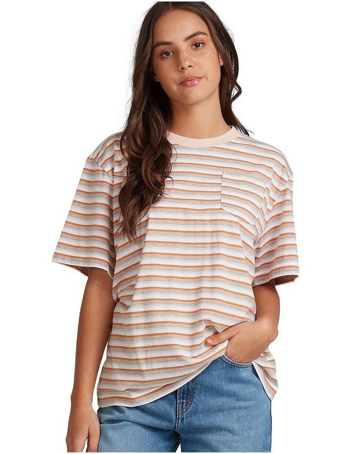Womens Sun Child Stripe Oversized T-Shirt image 1