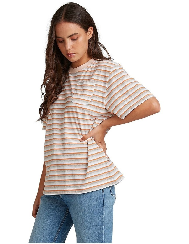Womens Sun Child Stripe Oversized T-Shirt image 2
