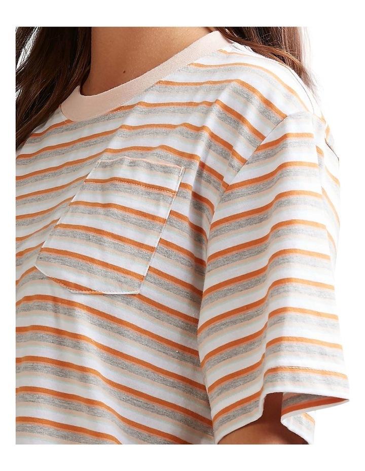 Womens Sun Child Stripe Oversized T-Shirt image 4