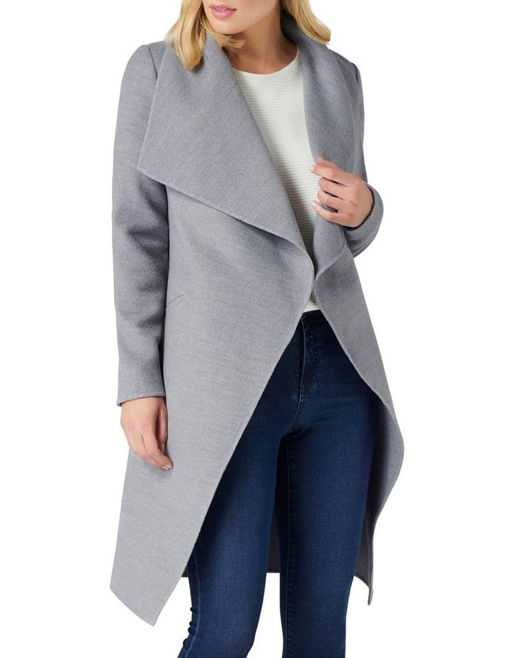Megan Felled Seam Wrap Coat image 1