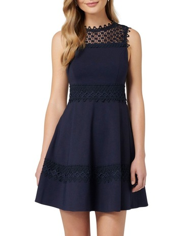 fe9a1eb0f674 Forever New Coby Lace Trim Ponte Dress