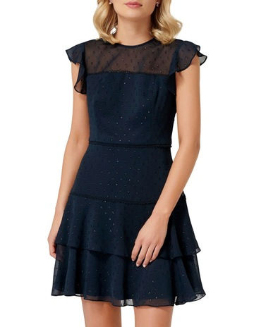 b82ae116a75 Forever NewStevie Frill Sleeve Metallic Mini Dress. Forever New Stevie  Frill Sleeve Metallic Mini Dress