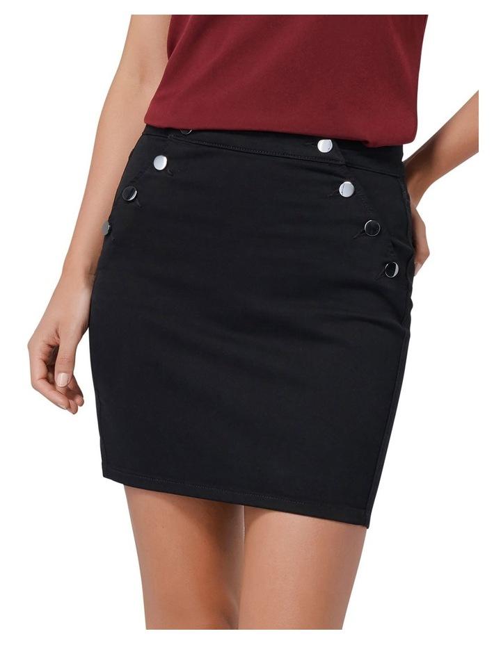 Hilda Button Detail Denim Skirt image 1
