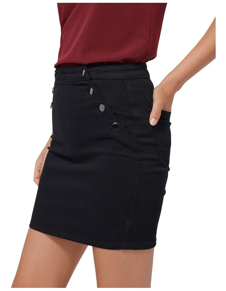 Hilda Button Detail Denim Skirt image 2