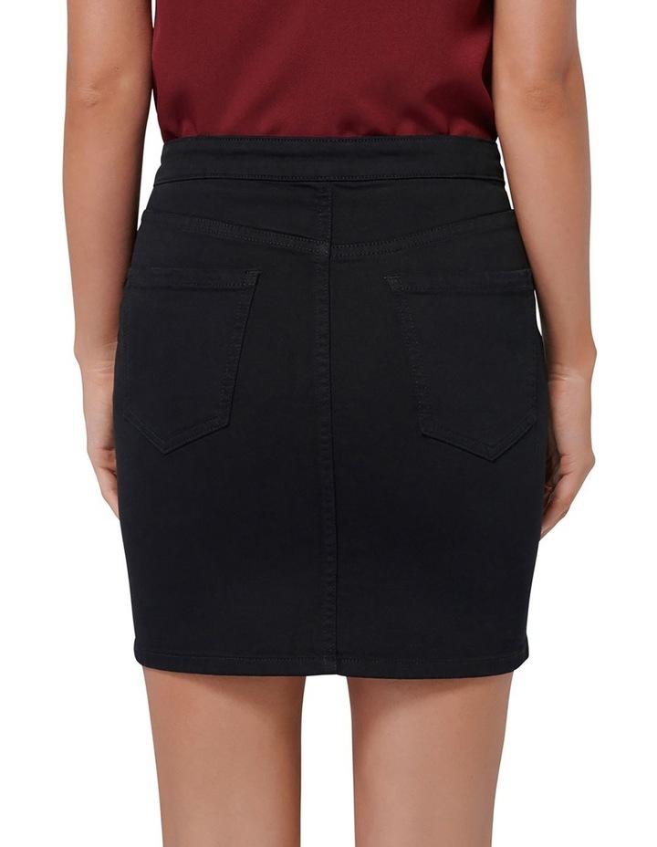 Hilda Button Detail Denim Skirt image 3