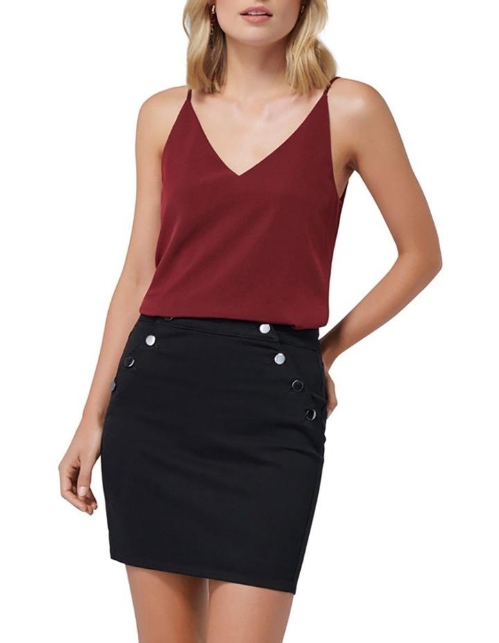 Hilda Button Detail Denim Skirt image 4