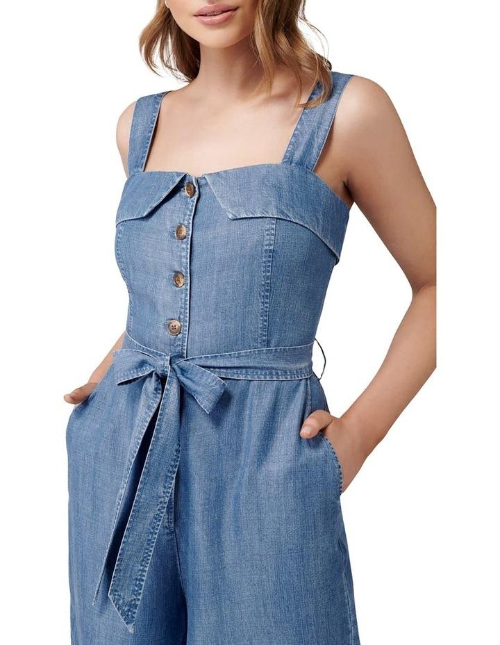 Renee Button Front Denim Jumpsuit image 2