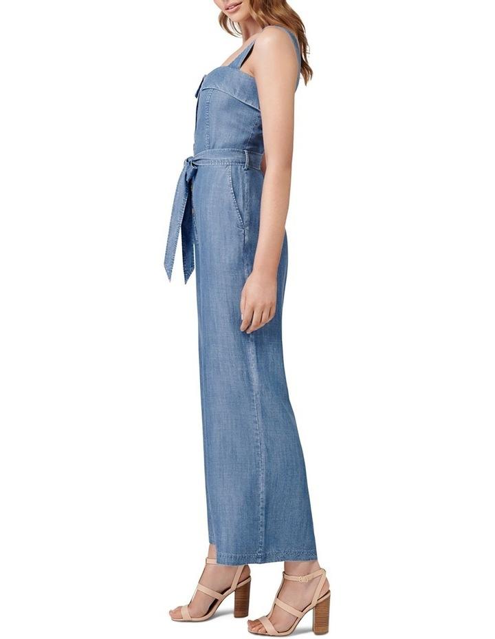 Renee Button Front Denim Jumpsuit image 3