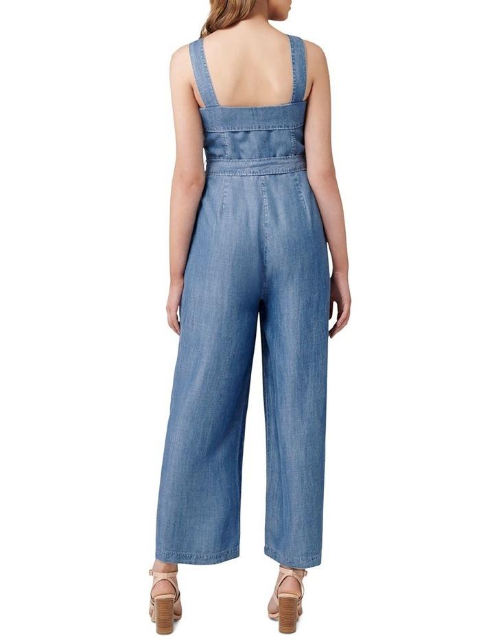 Renee Button Front Denim Jumpsuit image 4