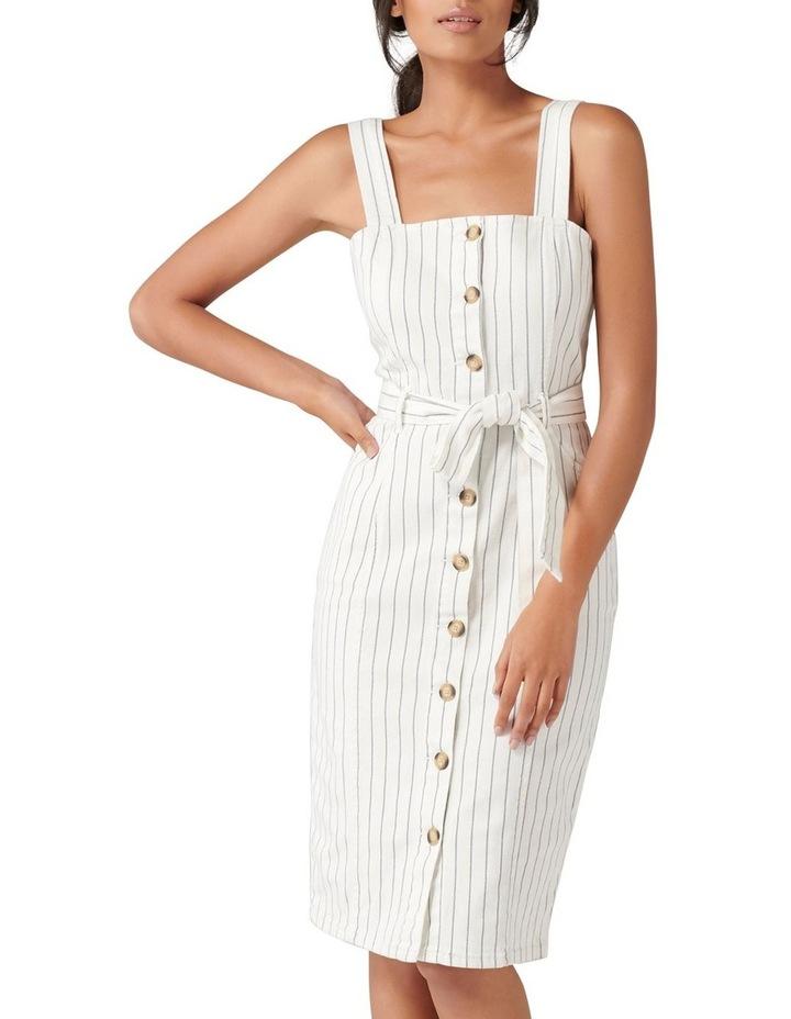 Drew Button Down Stripe Denim Dress image 1