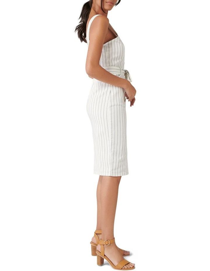 Drew Button Down Stripe Denim Dress image 3