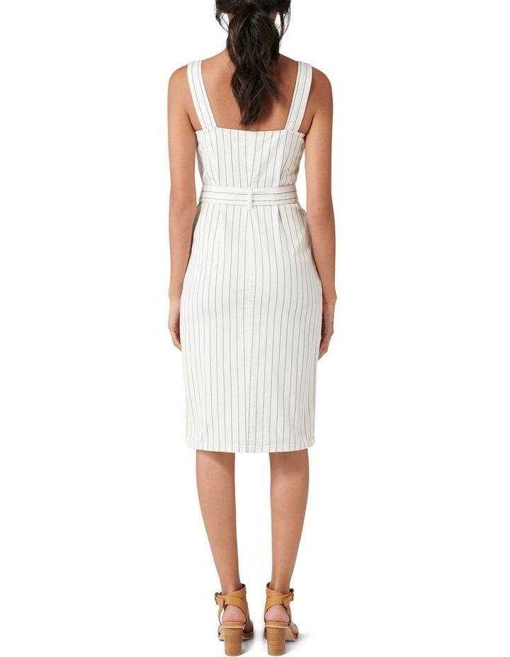 Drew Button Down Stripe Denim Dress image 4