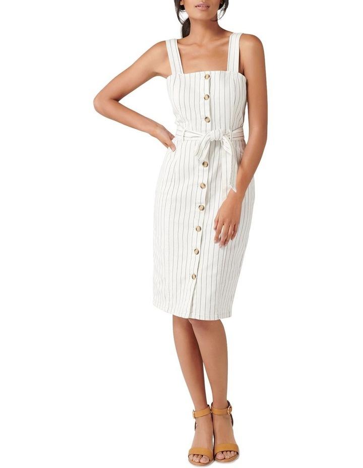Drew Button Down Stripe Denim Dress image 5