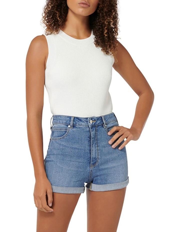 Florida High Rise Denim Shorts image 4