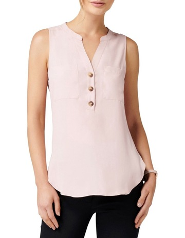 6a4e638049c8a Forever NewMabel Button Front Essential Top. Forever New Mabel Button Front  Essential Top
