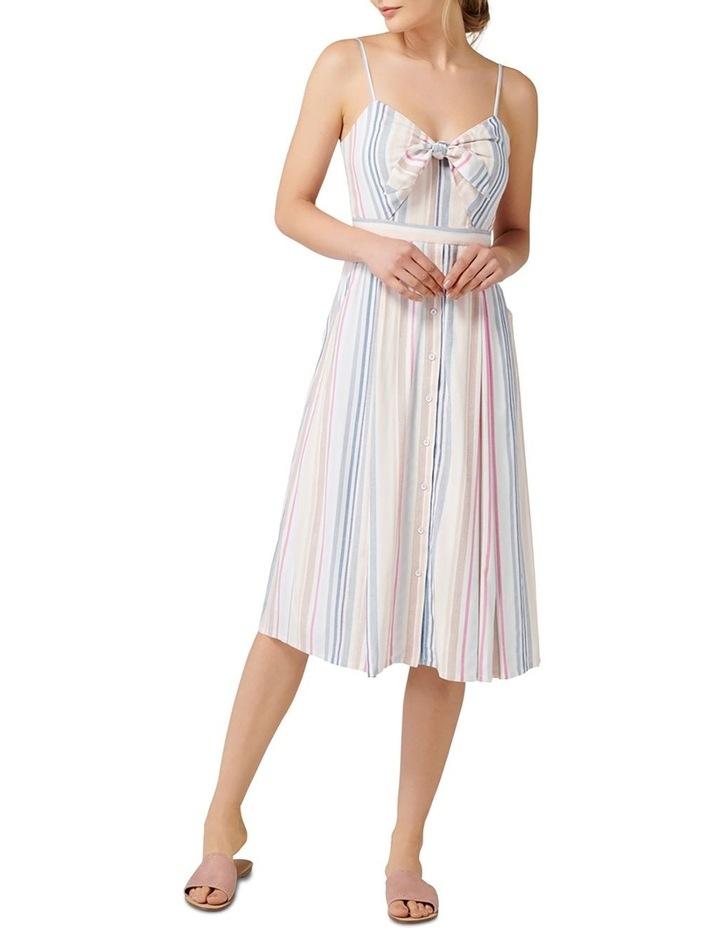 Mya Tie Front Button Through Dress image 1