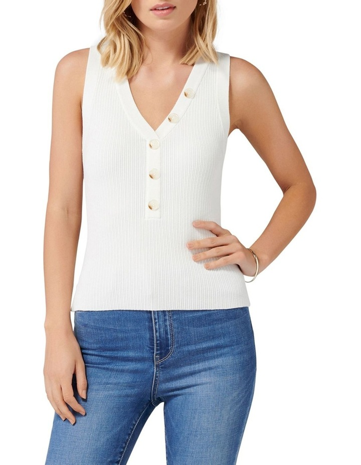 Larisa Button Up Knit Tank image 1