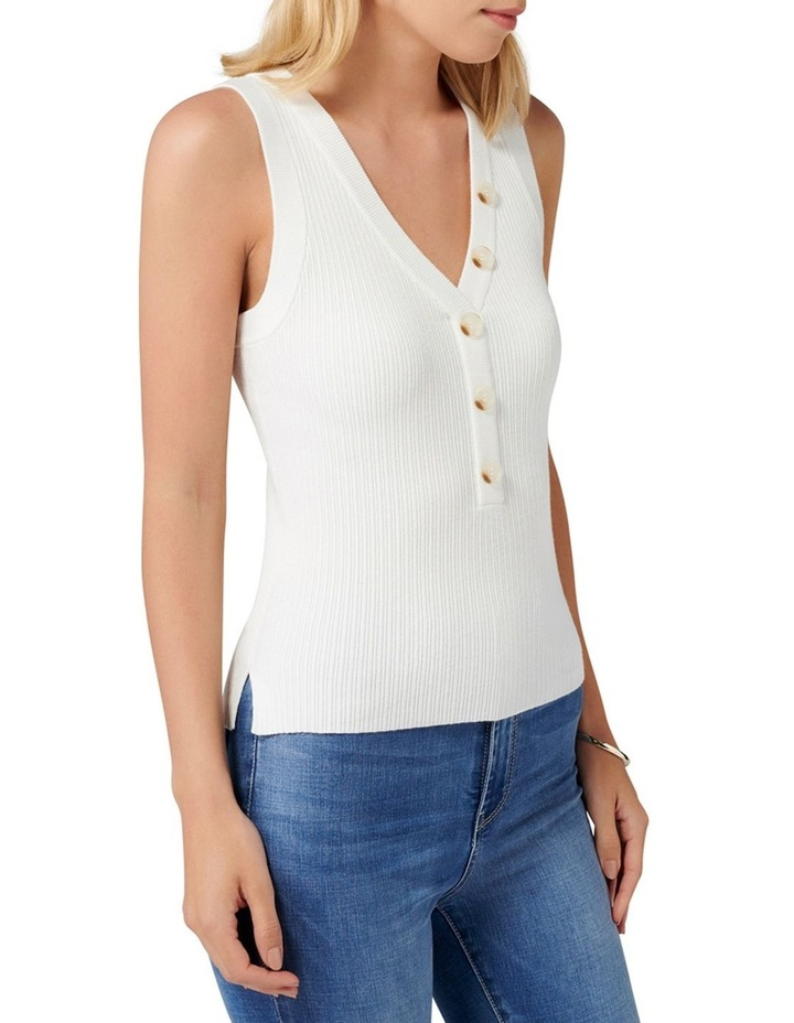 Larisa Button Up Knit Tank image 2