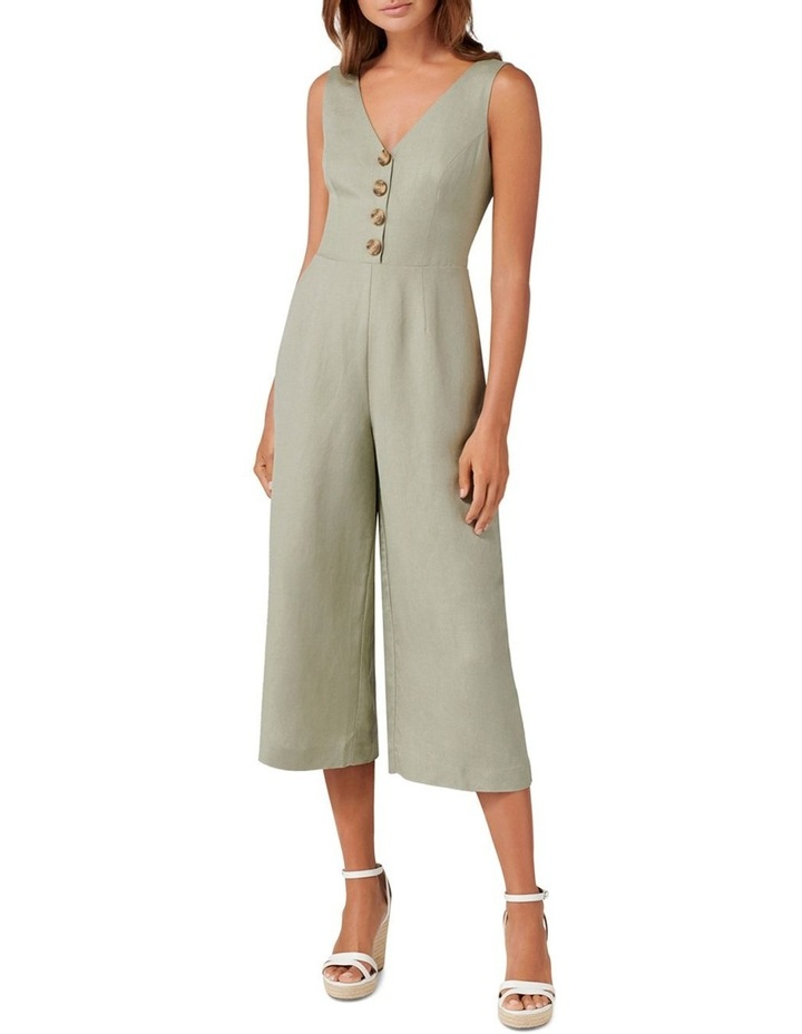 Clare Petite Button Front Jumpsuit image 1