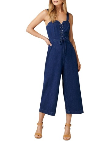 1ed0eb88958a Forever New Abigail Lace Up Denim Jumpsuit