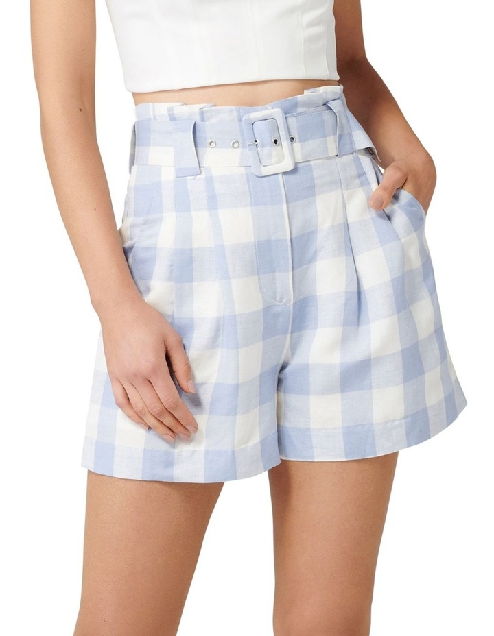 Laila Gingham Highwaist Shorts image 1