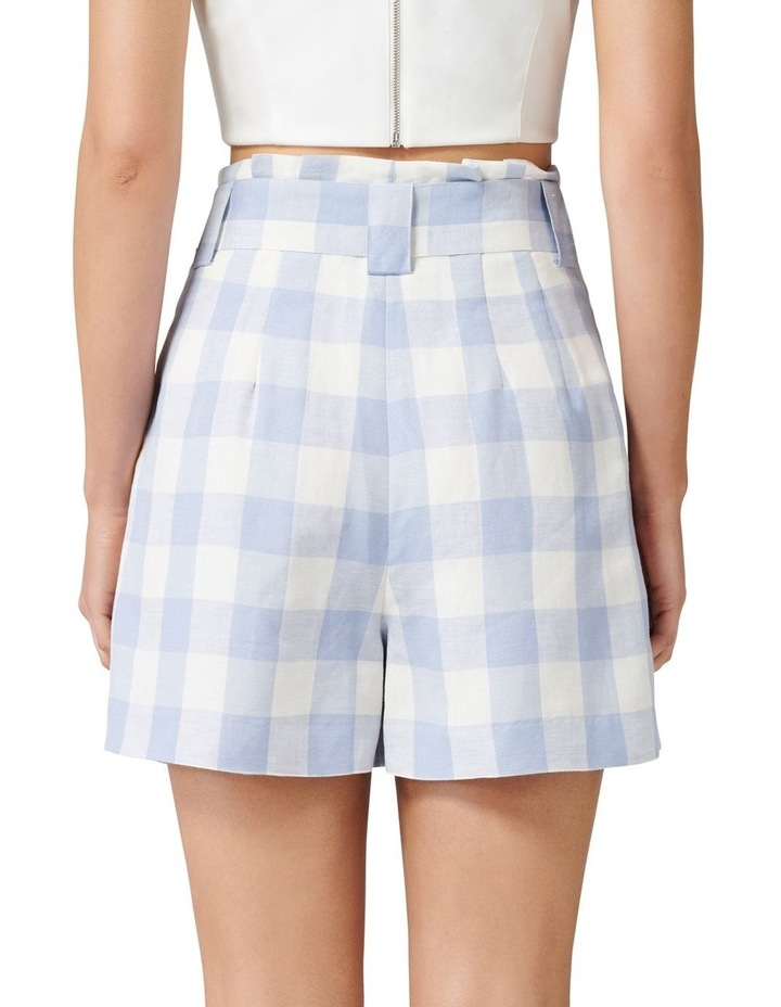 Laila Gingham Highwaist Shorts image 3