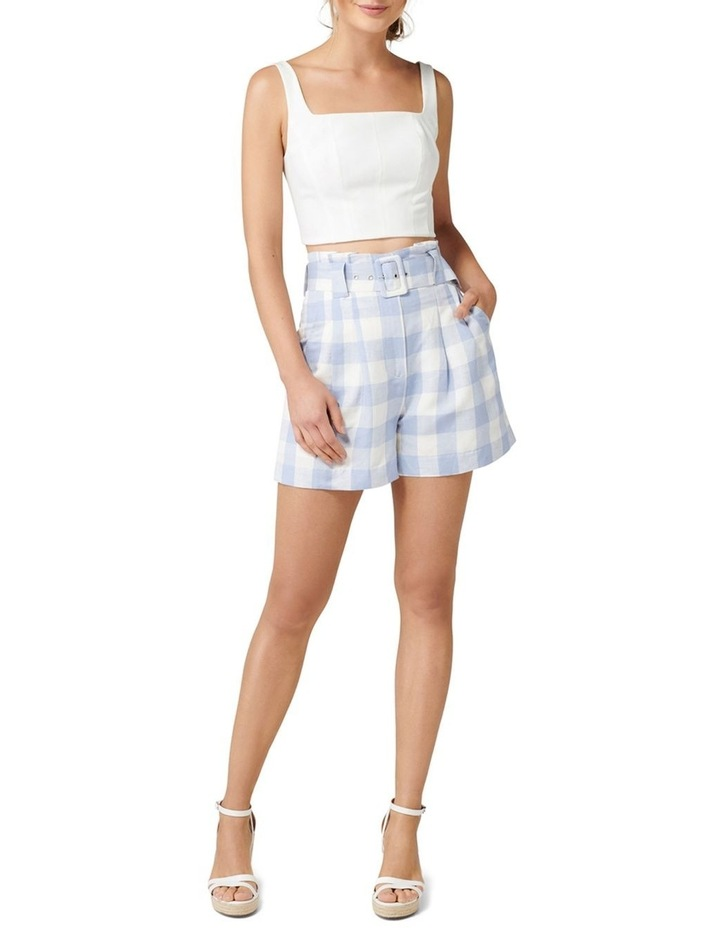 Laila Gingham Highwaist Shorts image 4