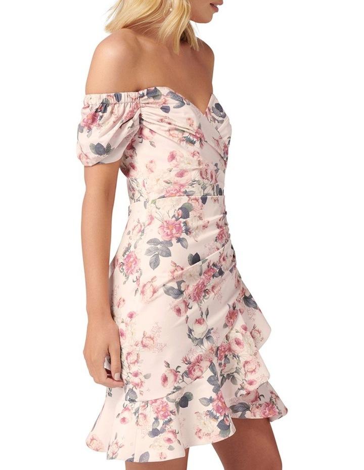Malia Rouched Sleeve Mini Dress image 3