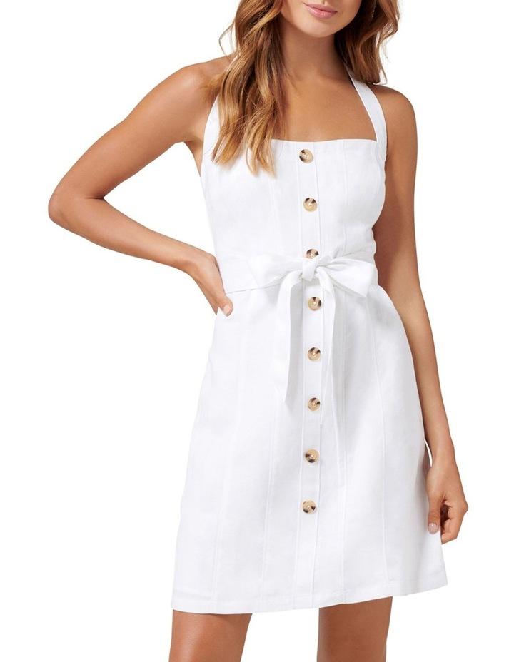 Piper Linen Halter Mini Dress image 1