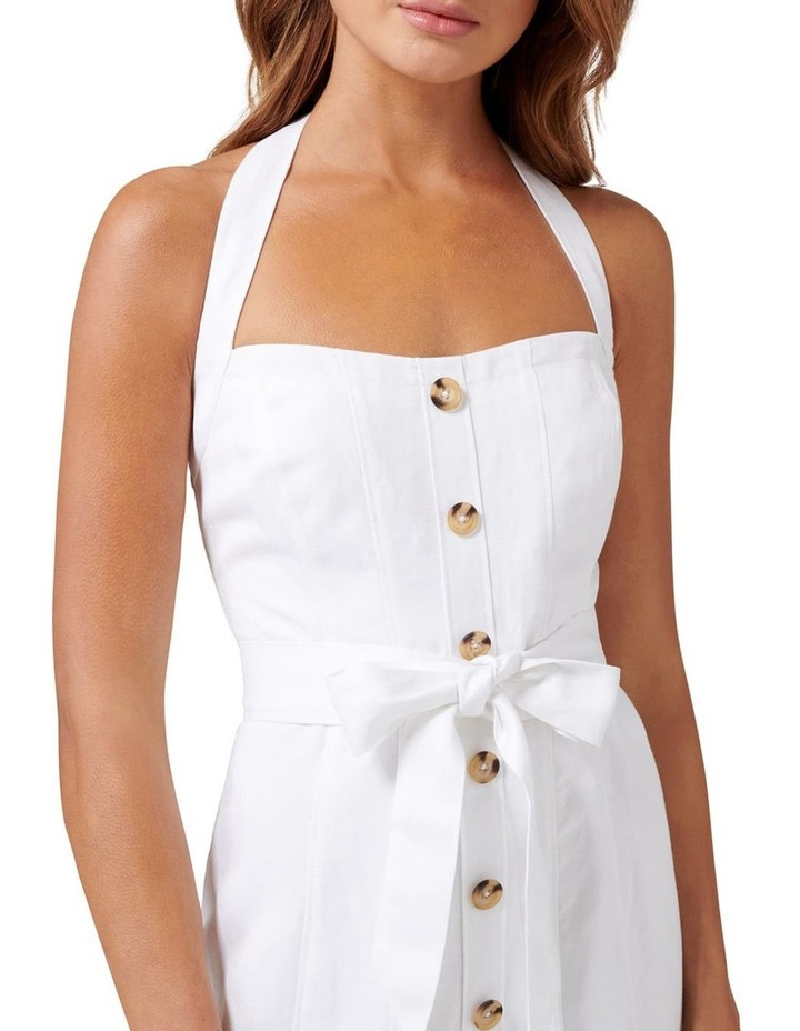 Piper Linen Halter Mini Dress image 2